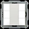 Taster 55mm  6-voudig Inbouw zuiver wit mat