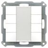 Taster 55mm  8-voudig Inbouw zuiver wit mat