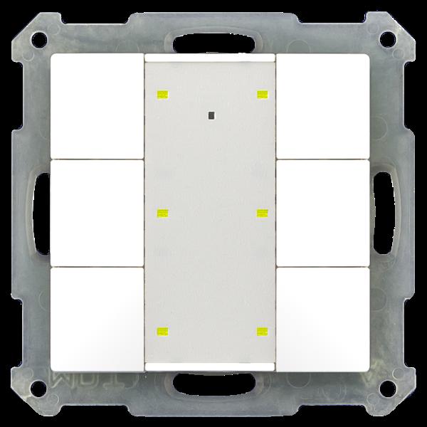 MDT Taster 55mm  6-voudig Plus Inbouw status- en oriëntatie-led