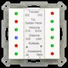 LED-indicator 12-voudig 55 mm, witte glanzende afwerking