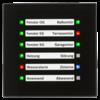 LED-indicator 12-voudig Glas Zwart