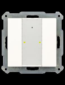MDT KNX RF+ Taster Plus 2-voudig met actor,  Witte glanzende afwerking, status- en oriëntatie-LED