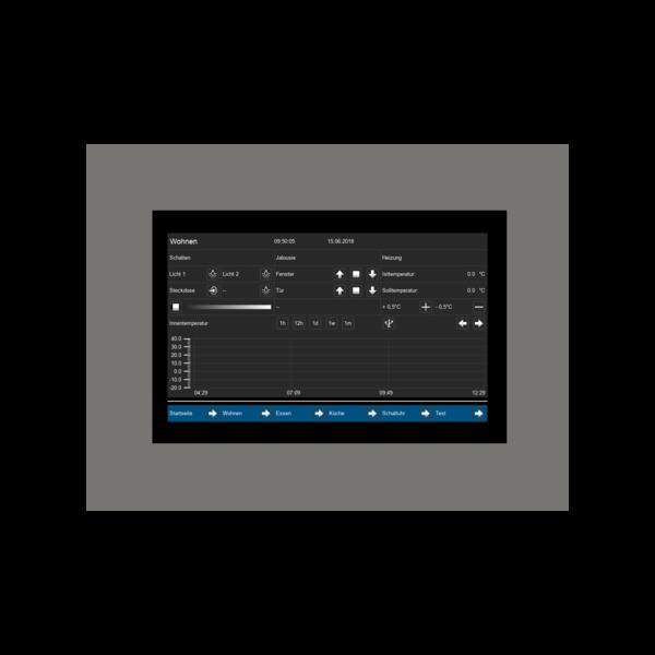 """MDT VisuControl Touchpanel 7 """"/ 17,7 cm capacitief True Glass TFT-scherm Inb."""