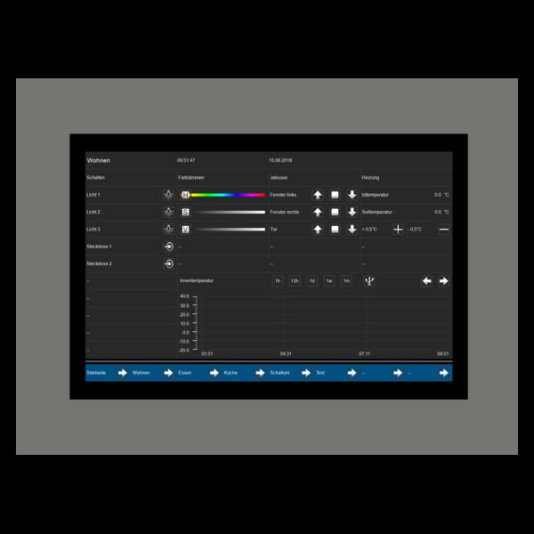 "MDT VisuControl Touchpanel 10 ""/ 25,6 cm capacitief True GlassTFT-scherm inb."