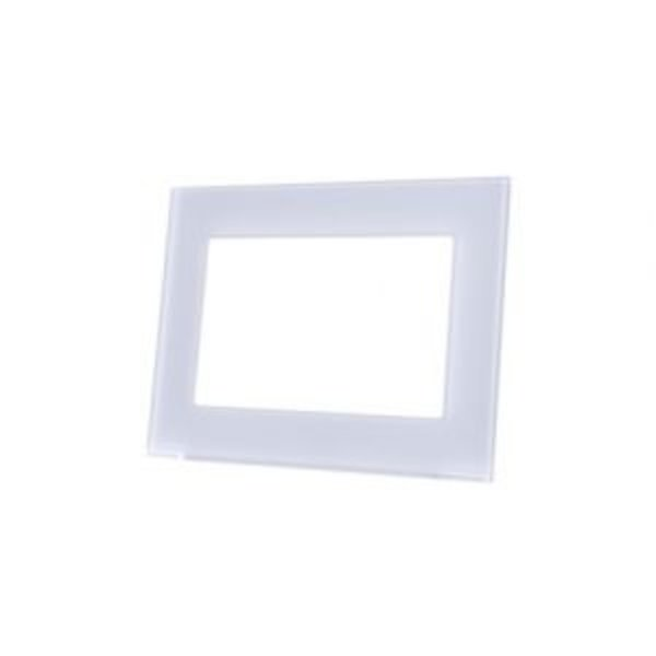 MDT Glazen afdekraam wit geschikt voor VC0701.04 touchpanel