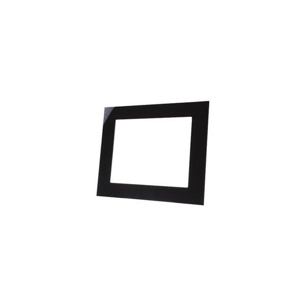 MDT Glazen afdekraam zwart geschikt voor VC1001.04 touchpanel