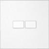 KNX Paneel 2-voudig Edelstaal  met platte  knoppen