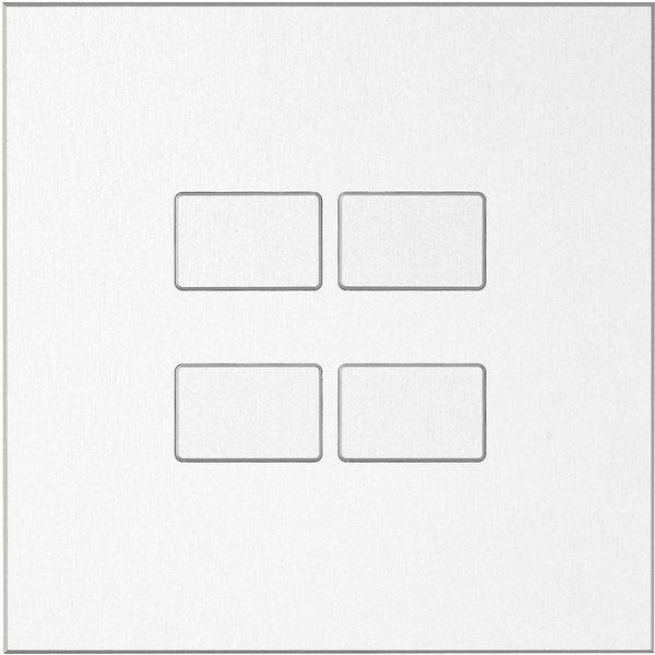 Ipas KNX Paneel Largho 4-voudig met verhoogde knoppen (0,5 mm)