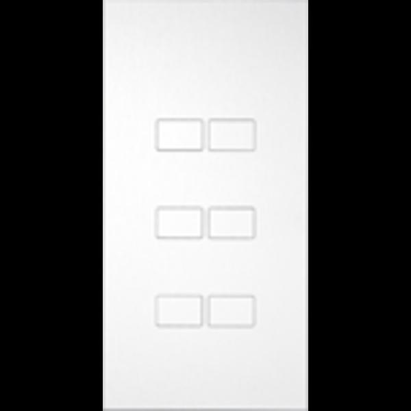 Ipas KNX Paneel  Largho 6-voudig met verhoogde knoppen (0,5 mm)