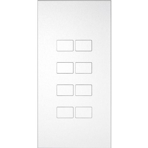 Ipas KNX Paneel Largho 8-voudig met platte  knoppen