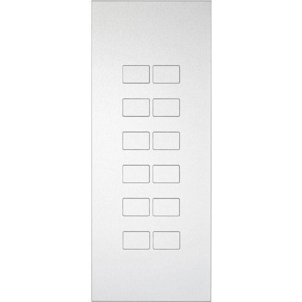 Ipas KNX Paneel  Largho 12 voudig met verhoogde knoppen (0,5 mm)