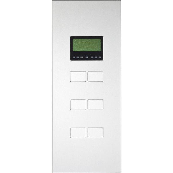 Ipas KNX Paneel  Largho 6-v. met Ruimte temp. regelaar en LCD Display met verhoogde knoppen (0,5 mm)