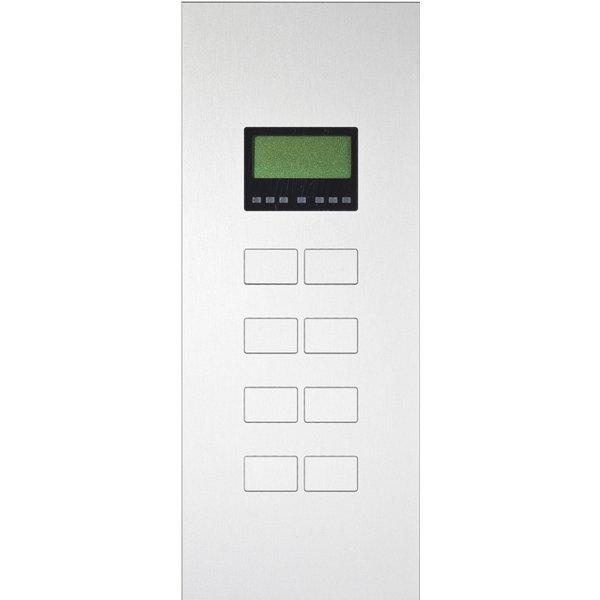 Ipas KNX Paneel  Largho 8-v. met Ruimte temp. regelaar en LCD Display met verhoogde knoppen (0,5 mm)
