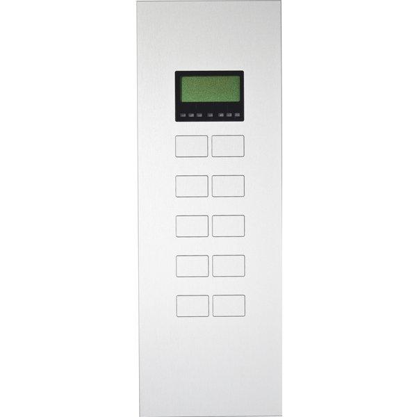 Ipas KNX Paneel Largho 10-v. met Ruimte temp. regelaar en LCD Display met verhoogde knoppen (0,5 mm)