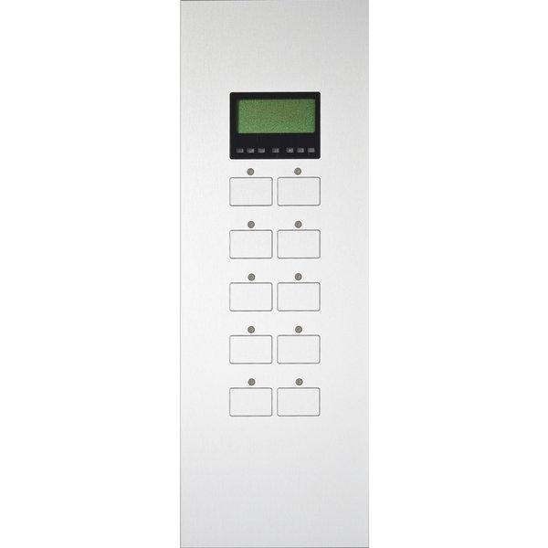Ipas KNX Paneel Largho 10-v. met RTR, LCD Display en status leds met platte knoppen