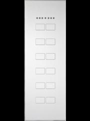 Ipas KNX Paneel Largho 12-voudig met Ruimte temp. regelaar met platte  knoppen