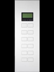 Ipas KNX Paneel Largho 12-v. met Ruimte temp. regelaar en LCD Display met verhoogde knoppen (0,5 mm)