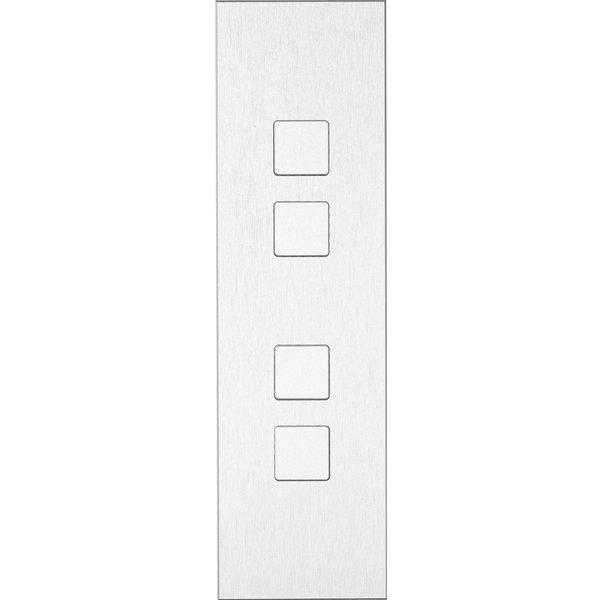 Ipas KNX Paneel Barchetto 4-voudig met verhoogde knoppen (0,5 mm)