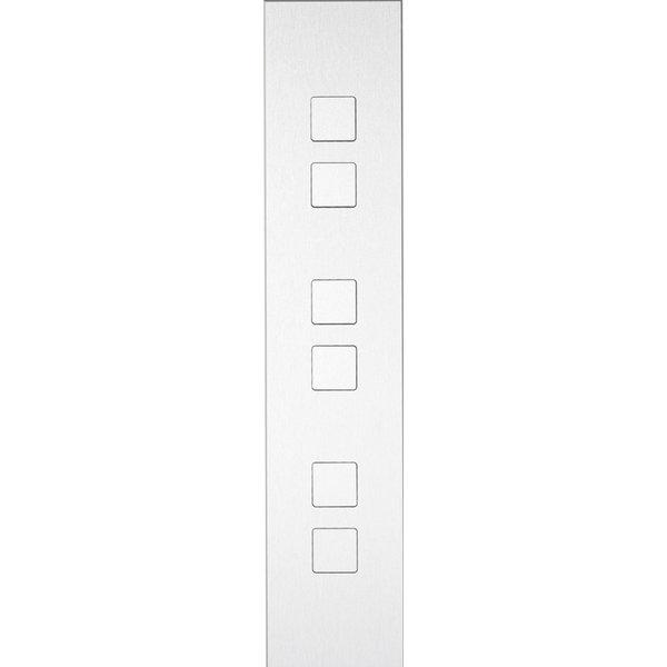 Ipas KNX Paneel Barchetto 6-voudig met verhoogde knoppen (0,5 mm)