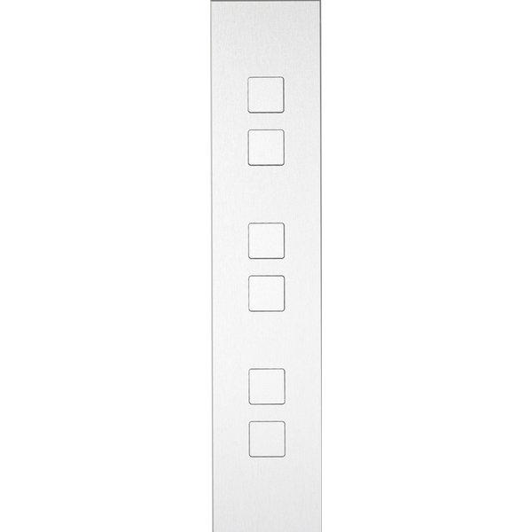 Ipas KNX Paneel Barchetto 6-voudig met platte knoppen