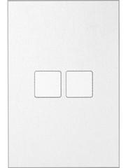 Ipas KNX Paneel  Contrattempo 2-voudig met verhoogde knoppen (0,5 mm)