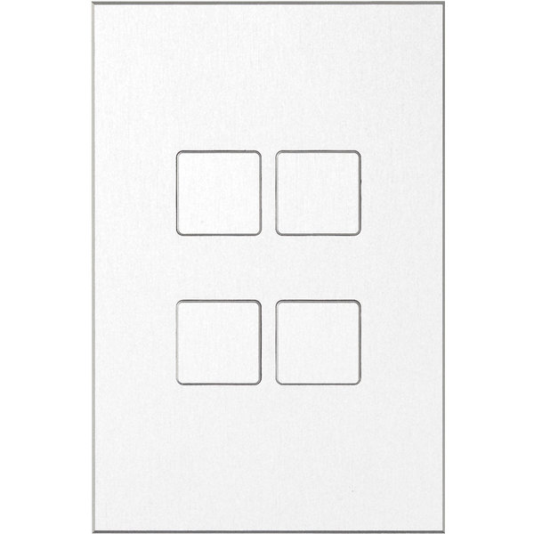 Ipas KNX Paneel Contrattempo 4-voudig met platte knoppen