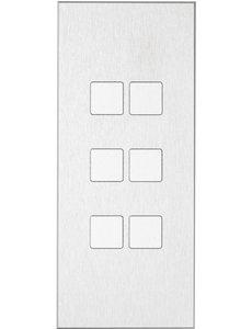 Ipas KNX Paneel  Contrattempo 6-voudig met verhoogde knoppen (0,5 mm)