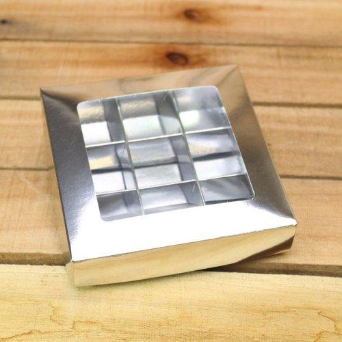 platte doos 9-vaks Zilver 116