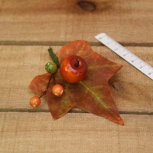 Appel met bruin blad