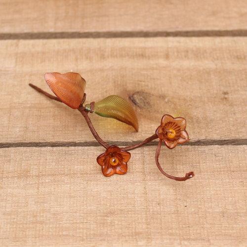 Bruin glas bloem