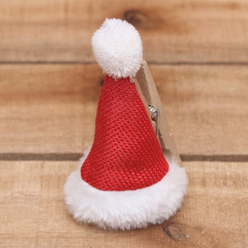 Kerstmuts op knijper
