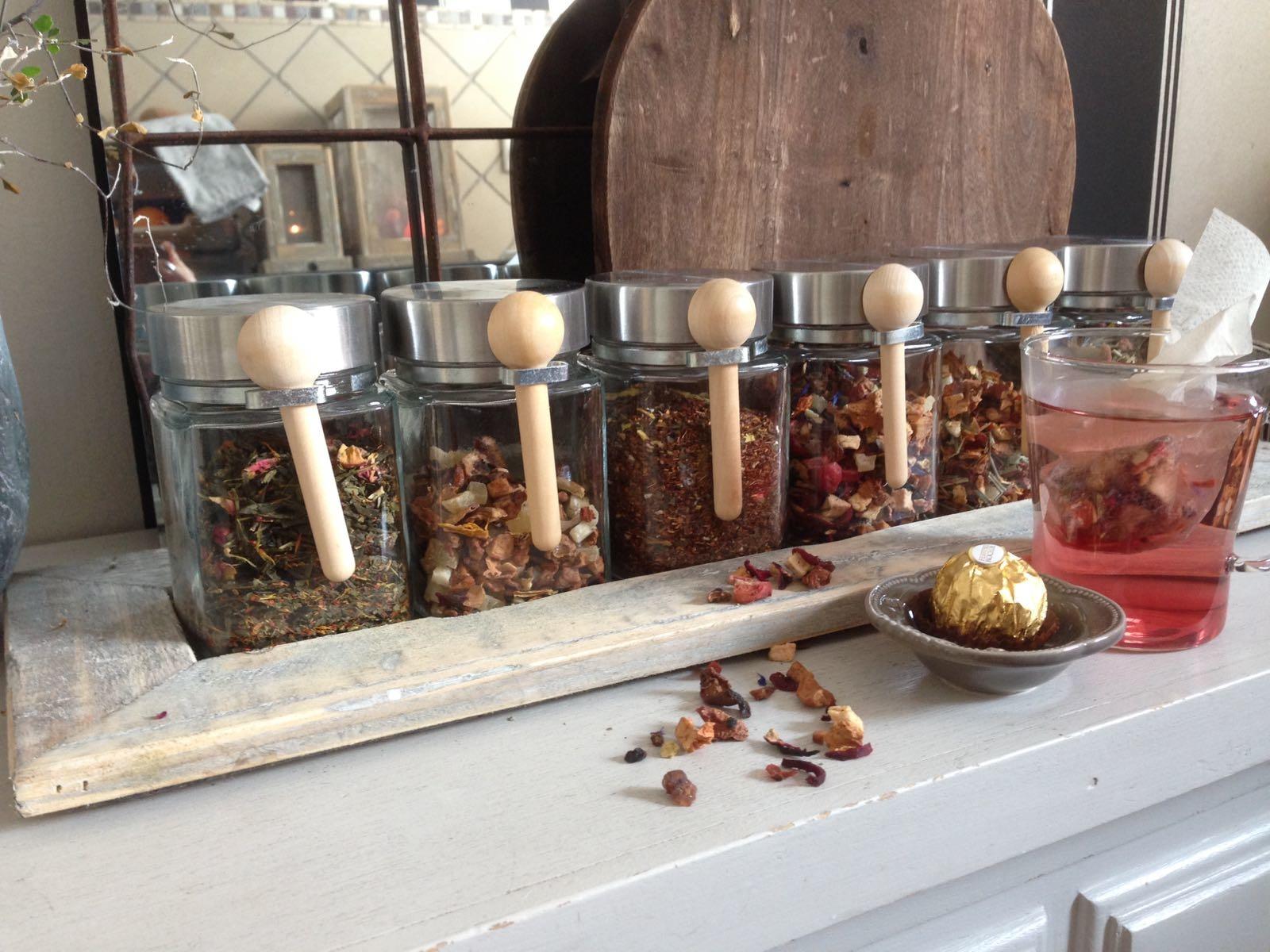 tray old dutch single tea pot-2