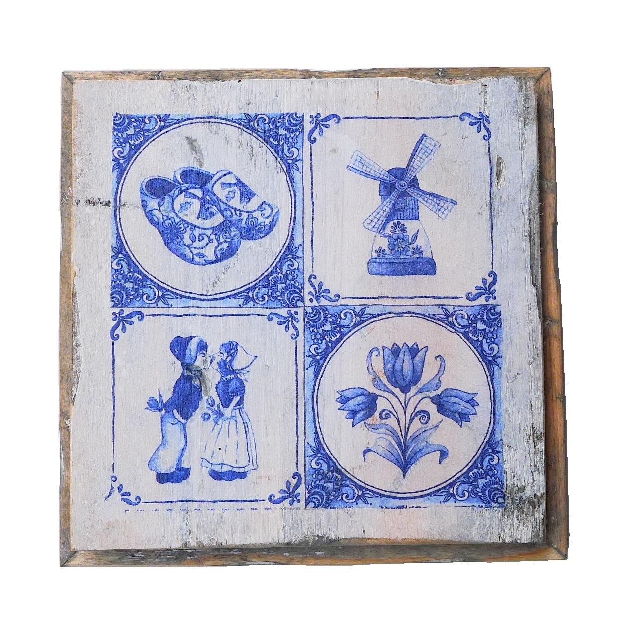 wooden tile old dutch delft 4  tile out-1