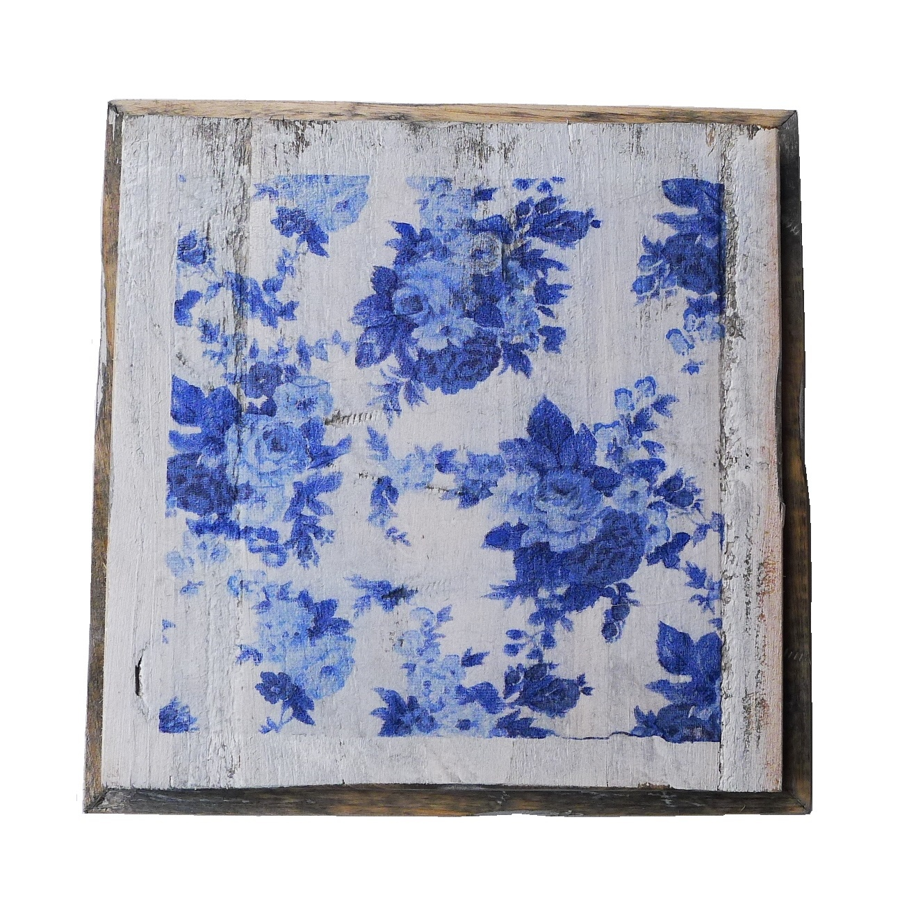 wooden tile old dutch delft rose out-1