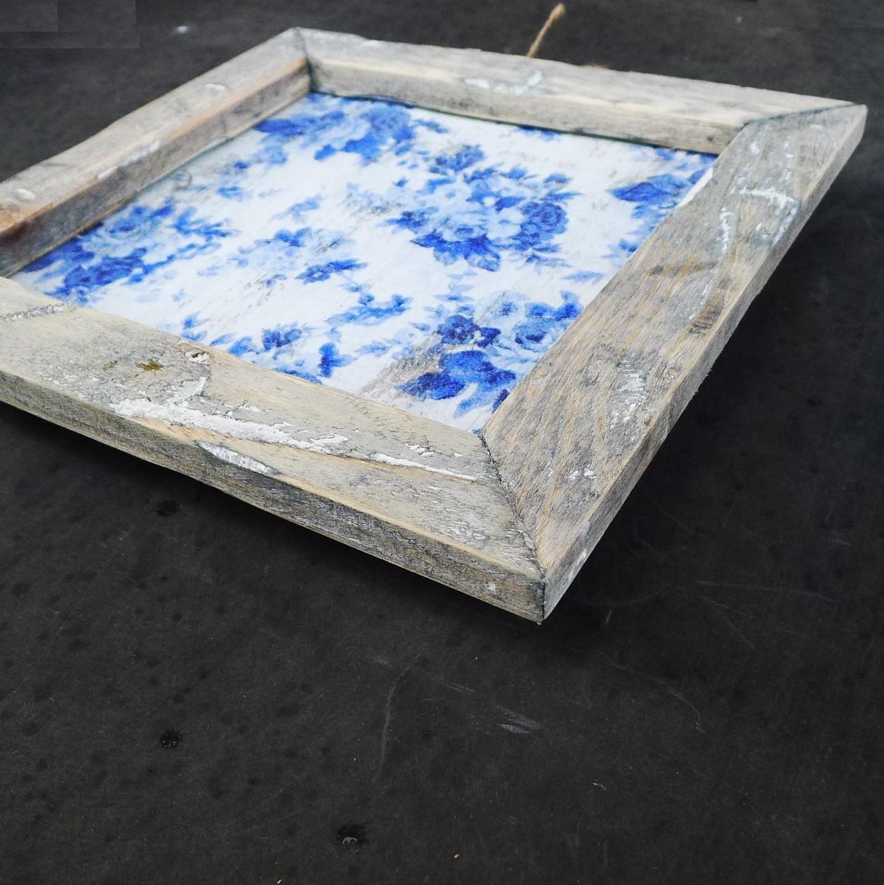 wooden tile old dutch delft rose in-2