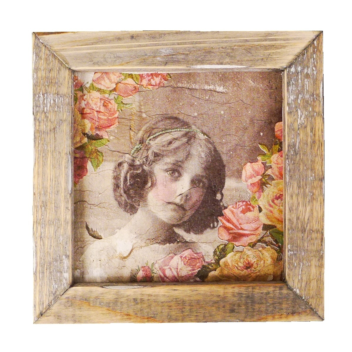 wooden tile old dutch angel blond in-1