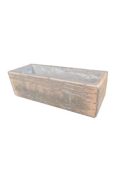 Wooden pot long