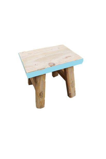 mini stool with blue edge