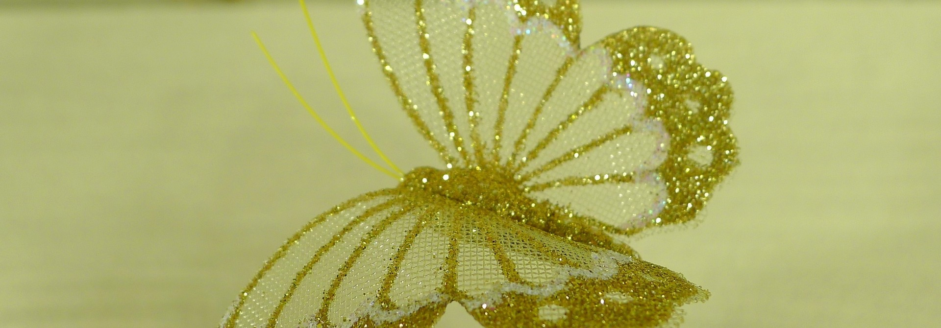 flor dec fabric butterfly 7.5 gold