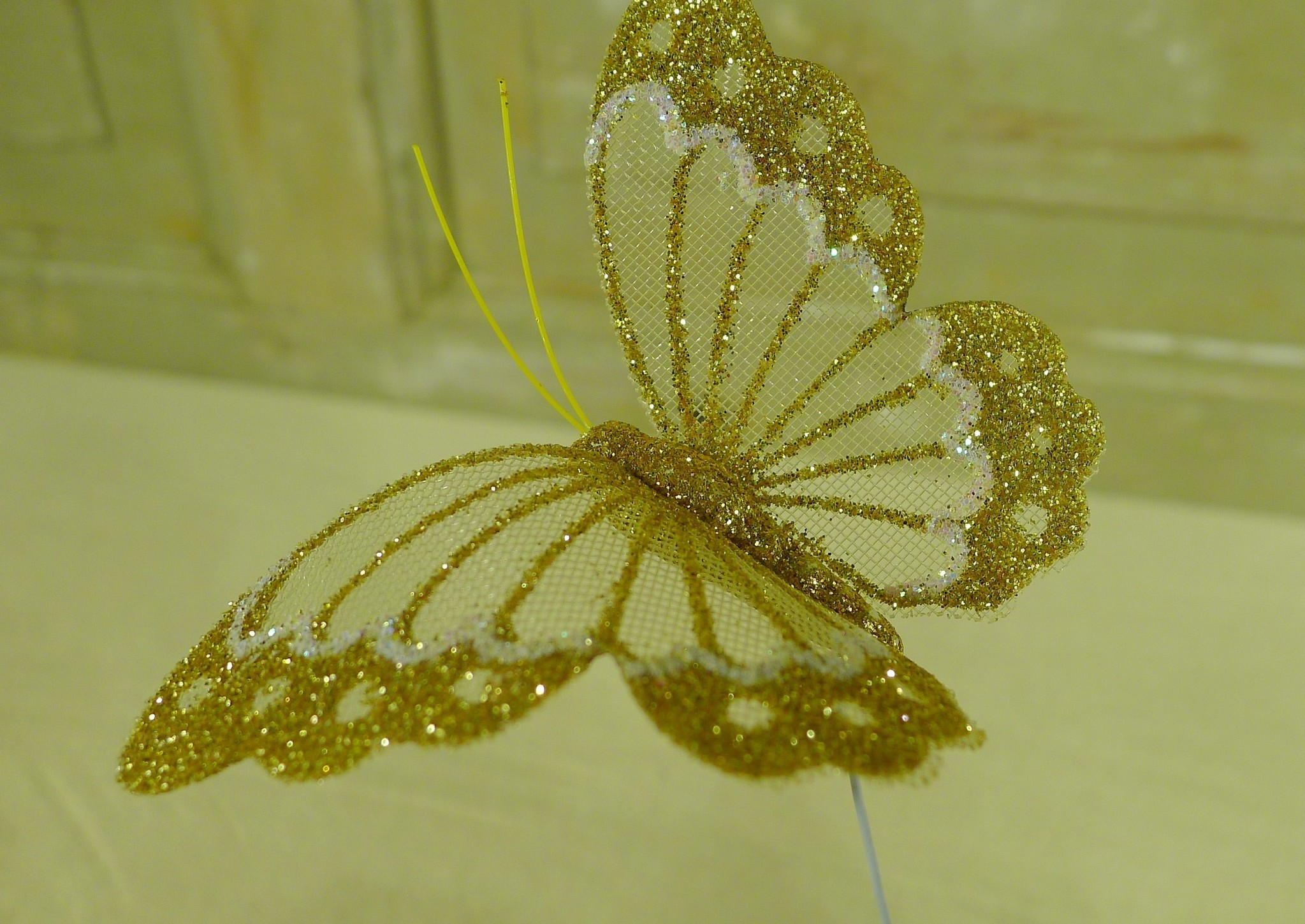 flor dec fabric butterfly 7.5 gold-3