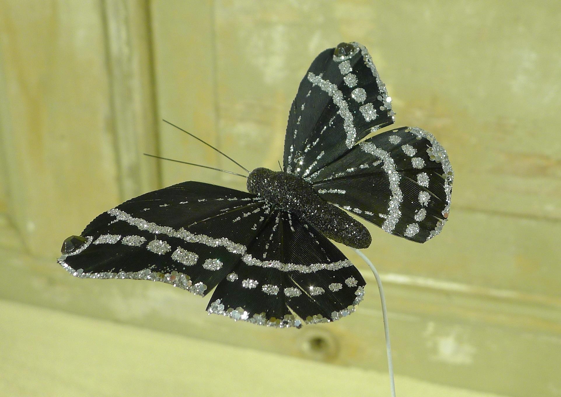 flor dec fabric butterfly 7.5 black-1