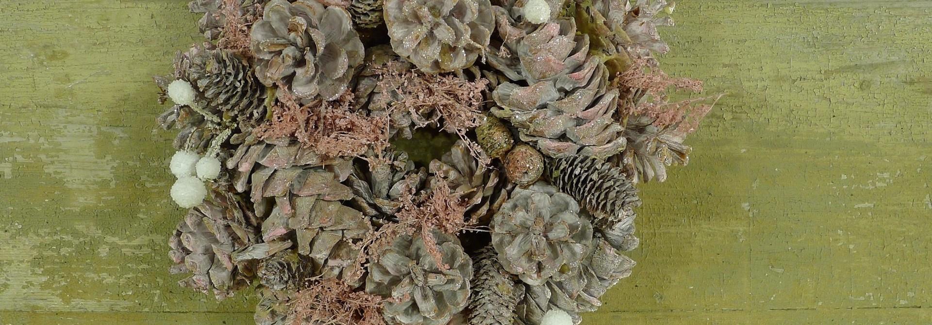 xmas nature garland 24 pink