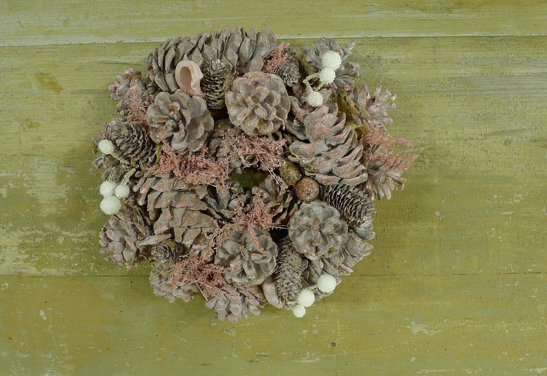 xmas nature garland 24 pink-1