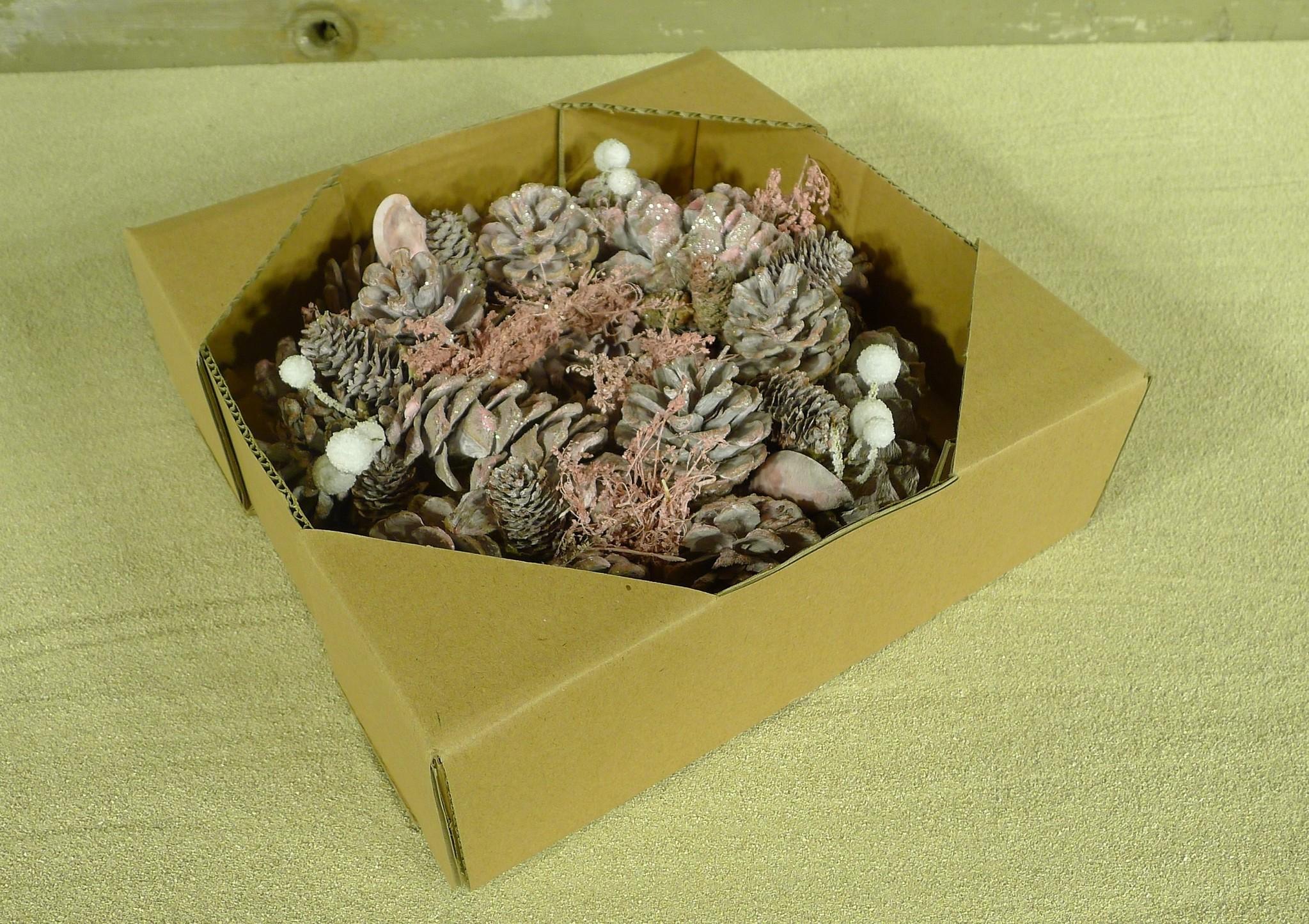 xmas nature garland 24 pink-2