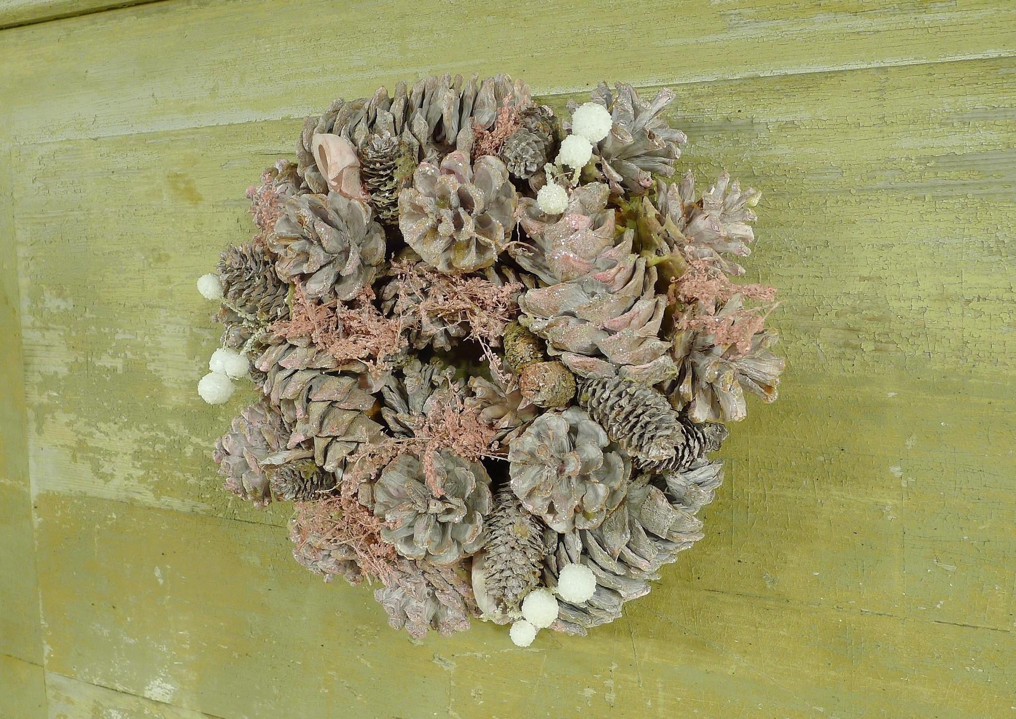 xmas nature garland 24 pink-3