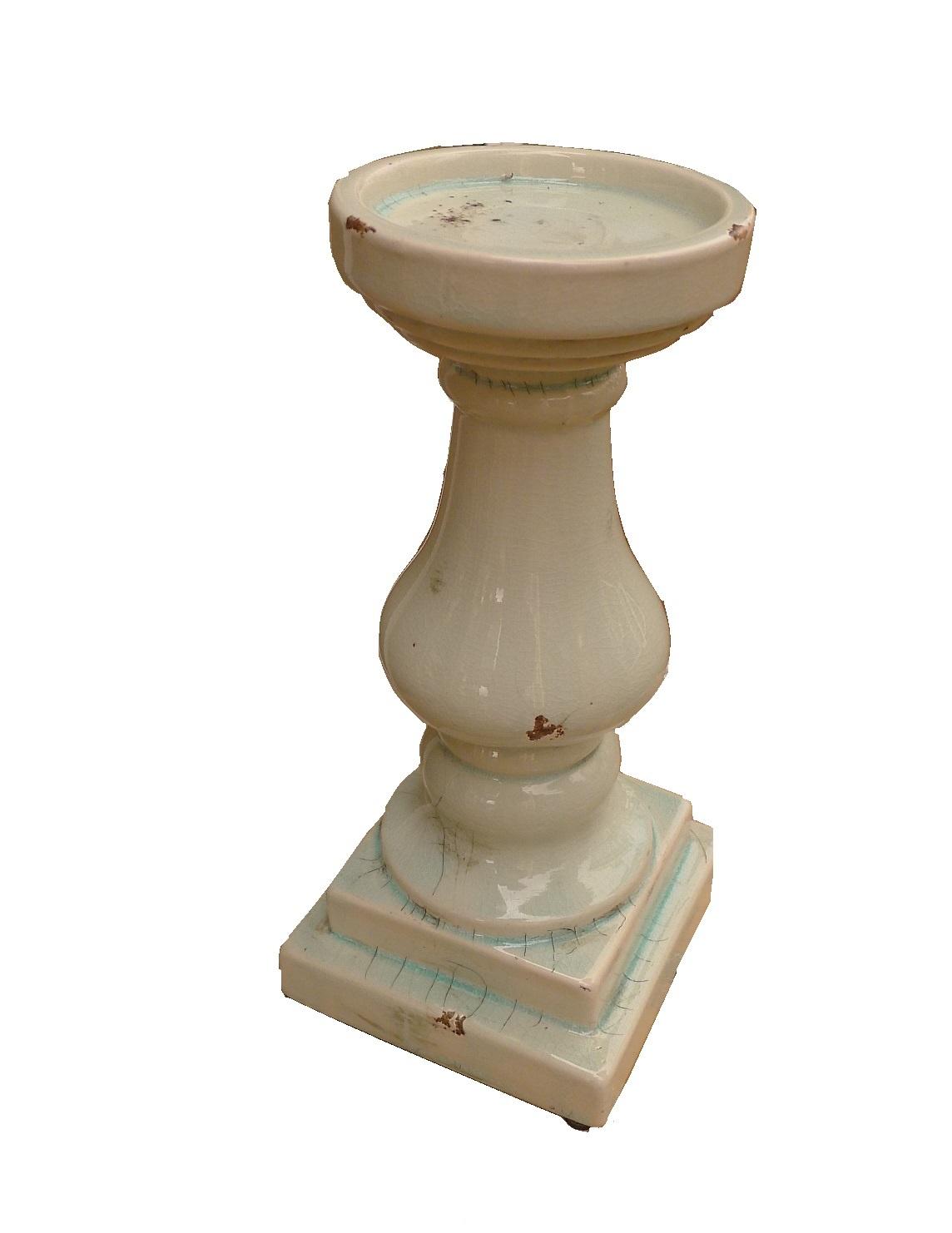 candle holdceramicroman pilar 28 turq-1