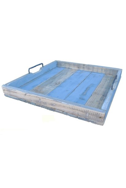 tray vierkant blauw