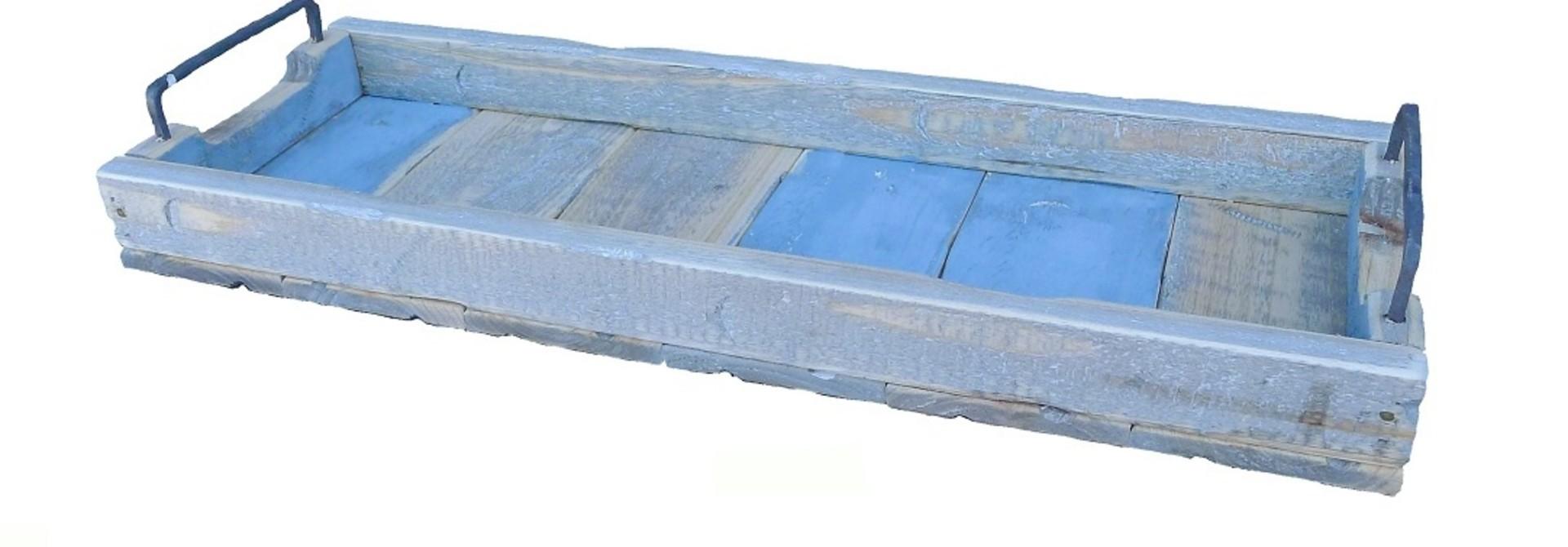 Tablett rechteckig blau - 58/20