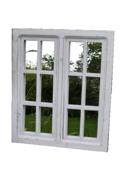 mirror with small windows