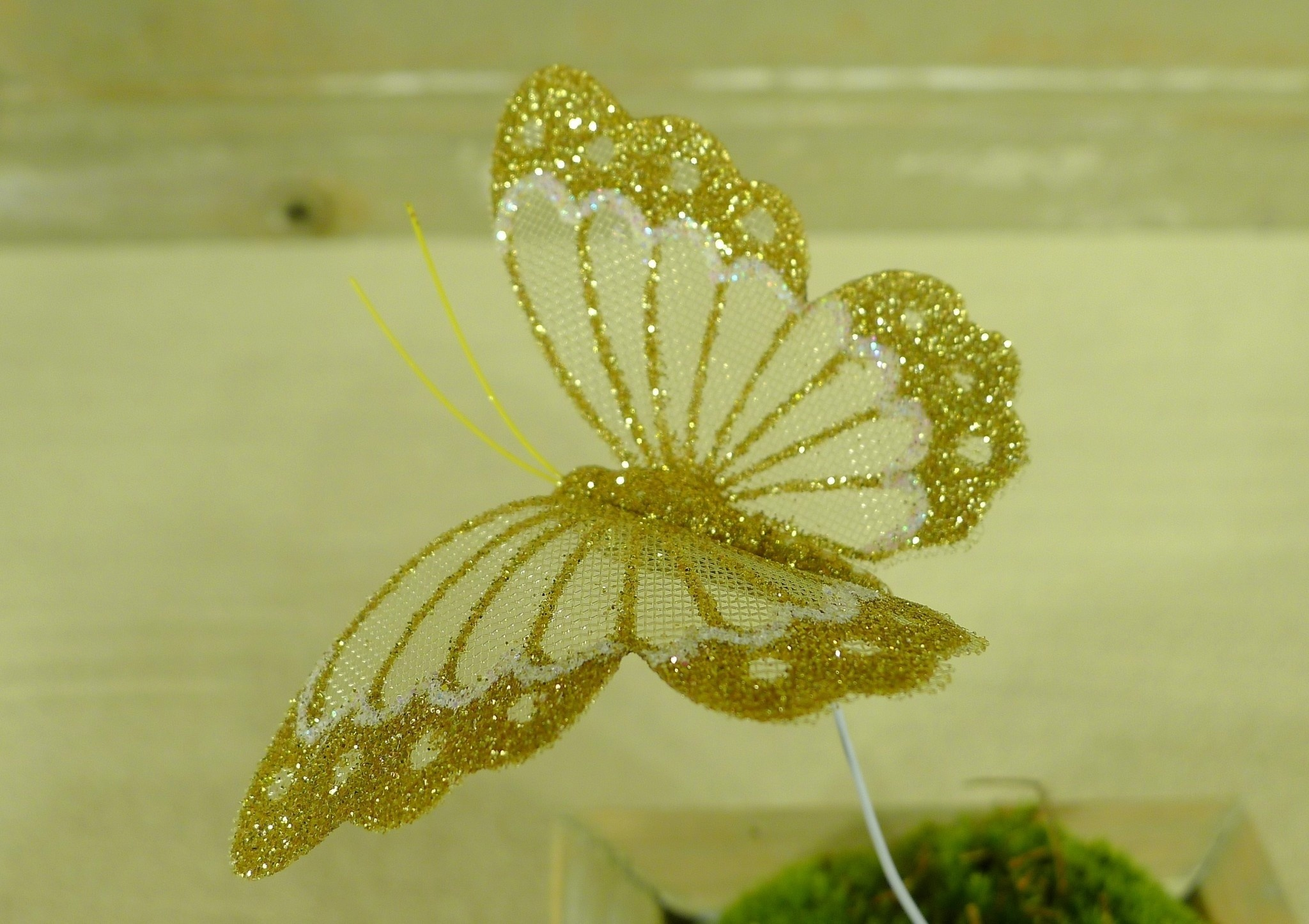 flor dec fabric butterfly 7.5 gold-6